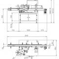 Schéma etiketovacího zařízení Alline C